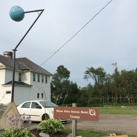 Uranus of the Maine Solar System Model