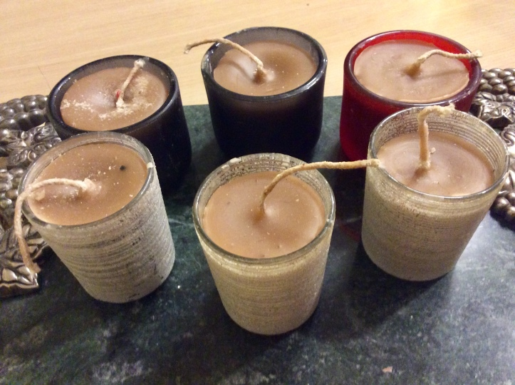 Homemade Candles from Leftover Wax