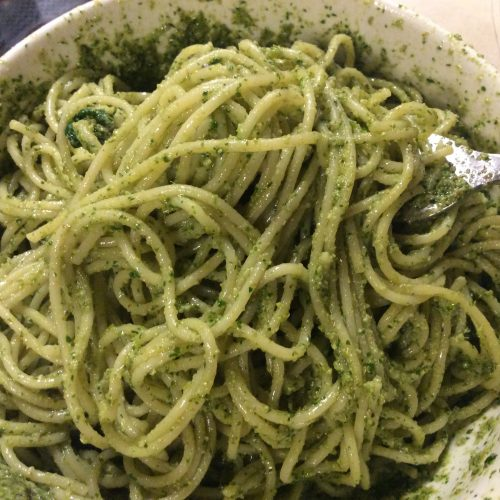 Spring Weed Queen's Garlic Mustard Pesto